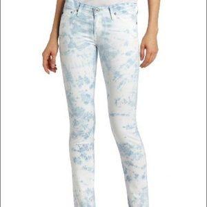 AG Jeans Stilt The Cigarette Tie Ice 29 MSRP $228